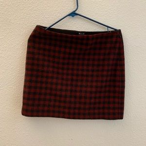 Madewell Skirts - Madewell Red Plaid/Checkered Skirt size 6